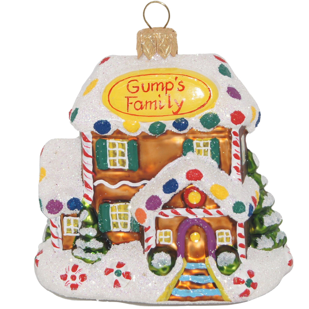 Gump's Family Gingerbread House Ornament