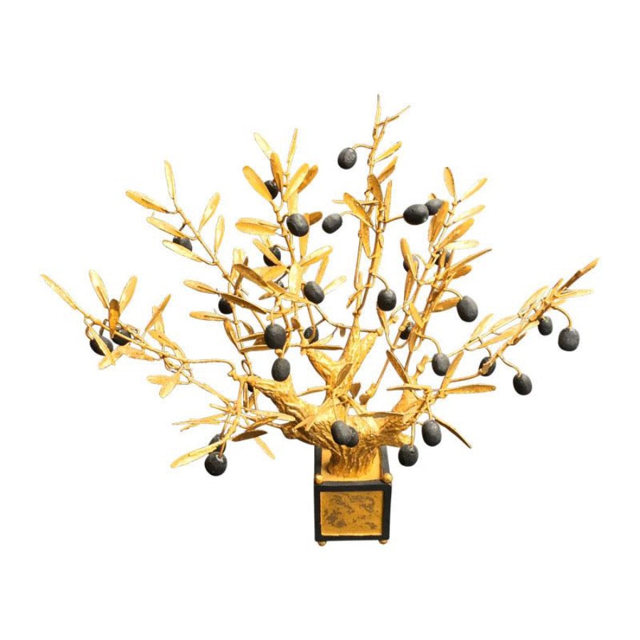 Gilded Bonsai Olive Tree, Small