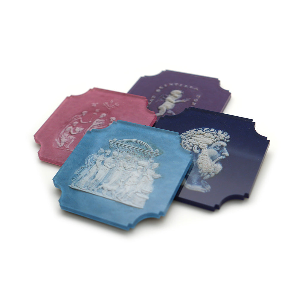 Intaglios Coasters, Set of 4