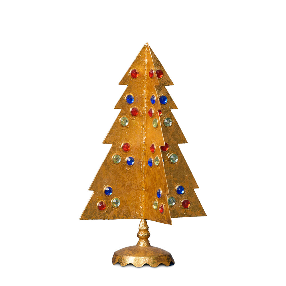 Gilt Tree with Red, Blue & Green, Short