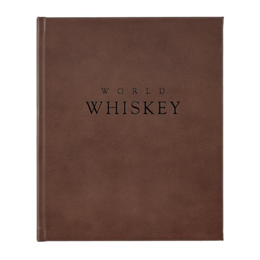 'World Whiskey' Leather Bound Book