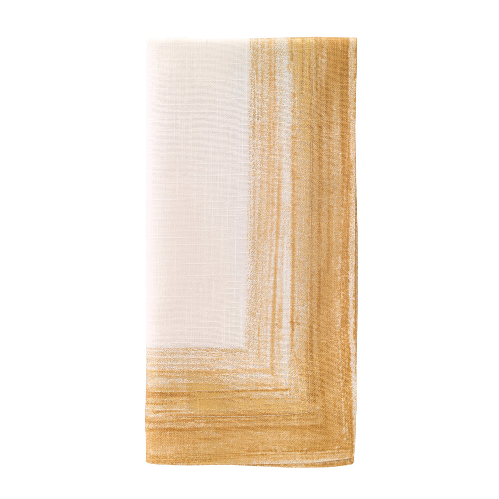 Cornice Light Gold Napkins, Set of 4