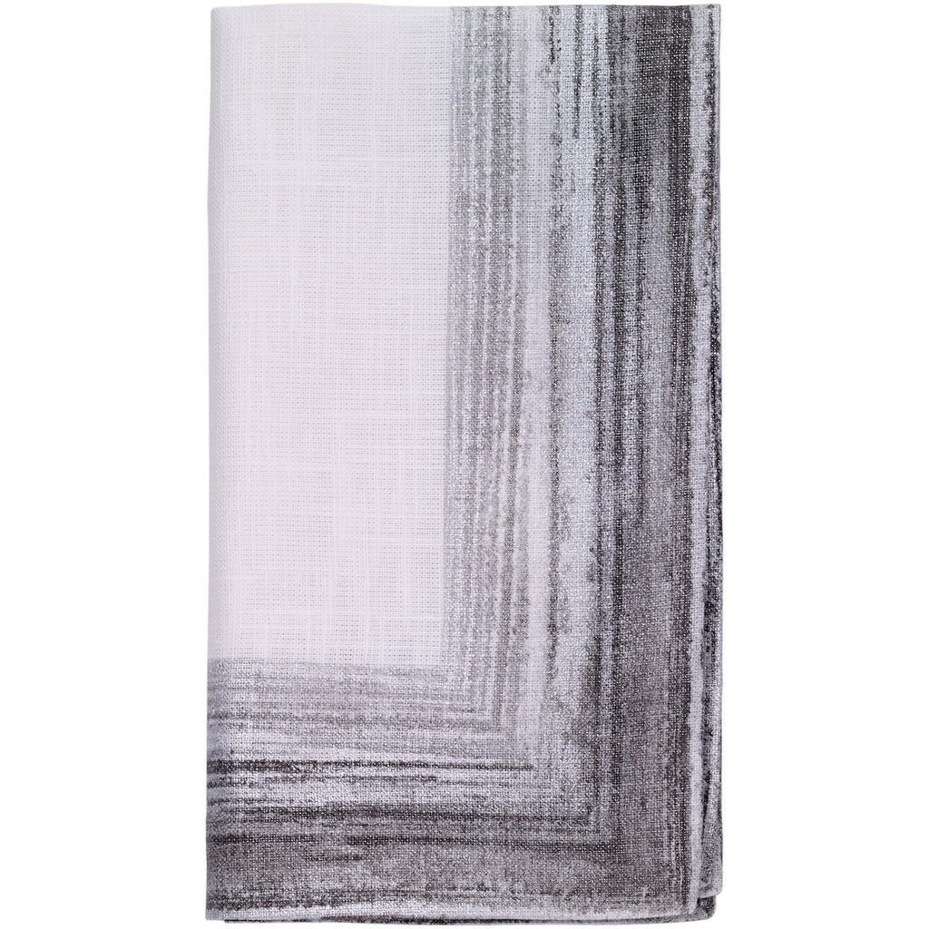Cornice Platinum Napkins, Set of 4