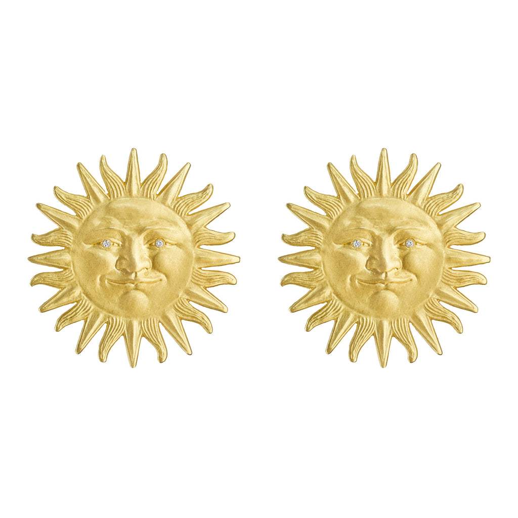 Sunface Stud Earrings