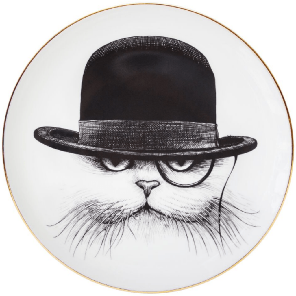 Cat in Hat Down Canape Plate