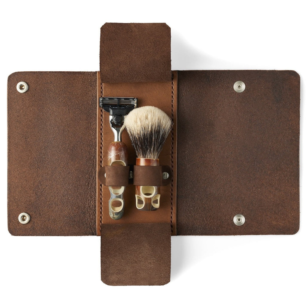 Théophile Caille Leather Shaving Kit Case