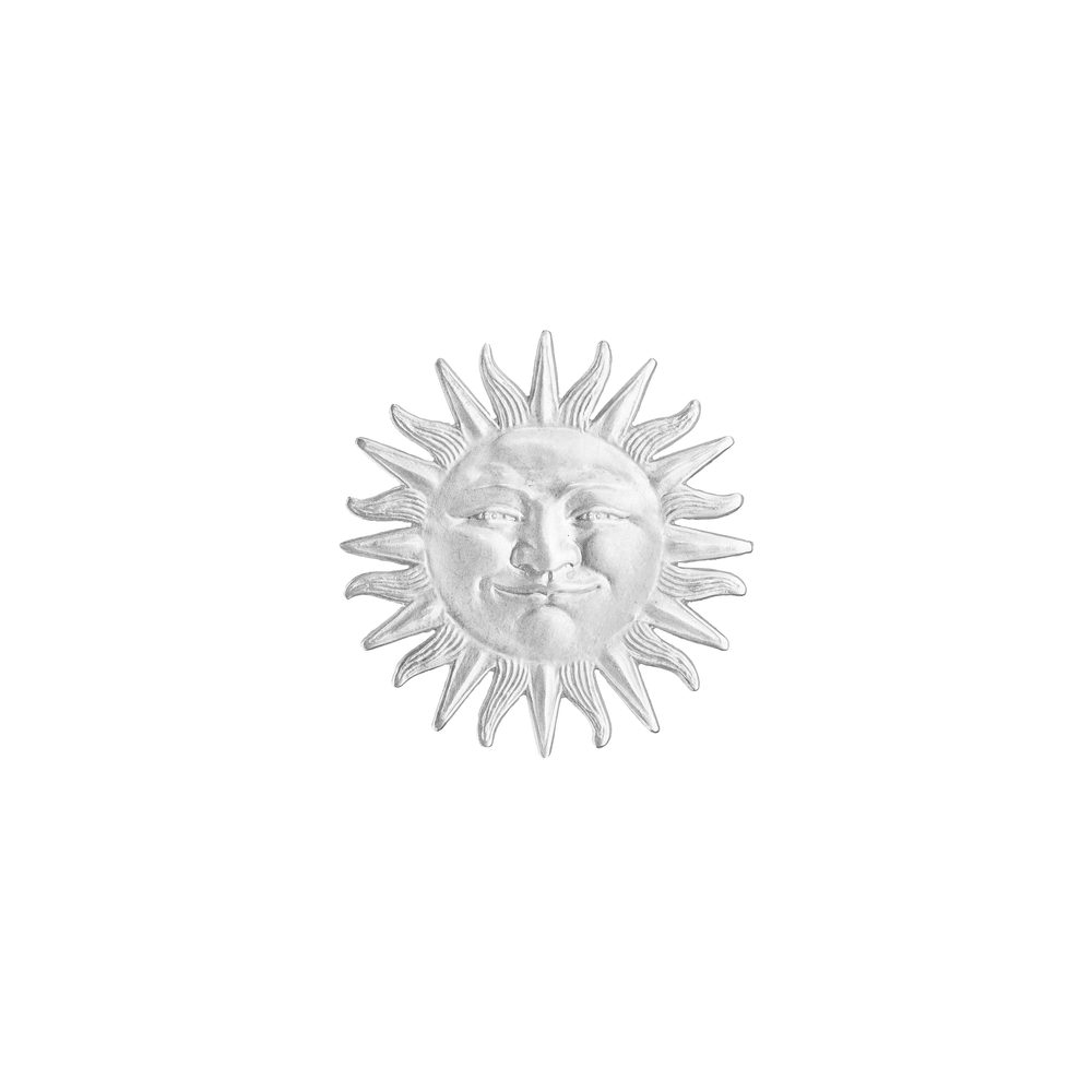 Sterling Silver Sunface Tie Pin