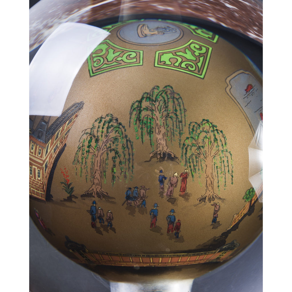 Inside-Painted Versailles Glass Ball