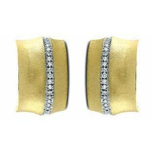 Diamond Bamboo Earrings