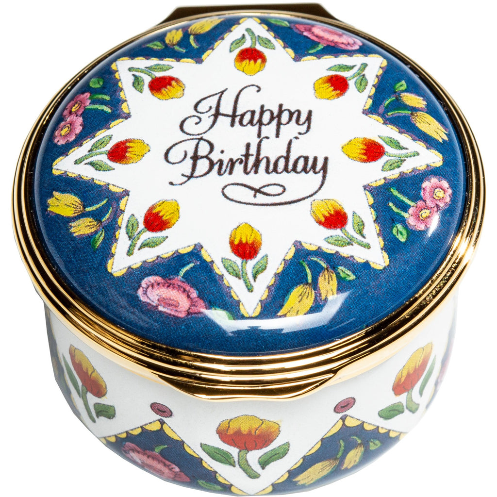 'Happy Birthday' Enamel Box