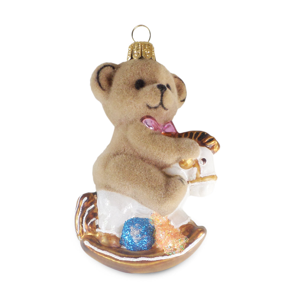 Bear on Rocking Horse Ornament