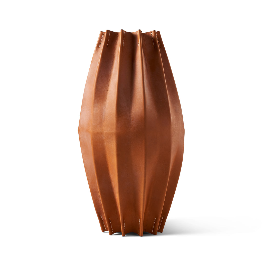 Pleated Leather Sculpture