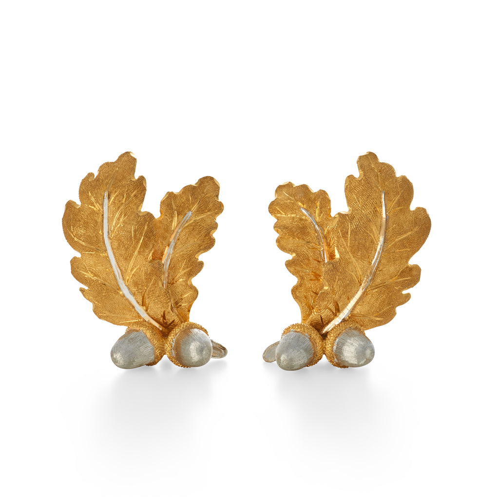 Buccellati Acorn Leaf Earrings
