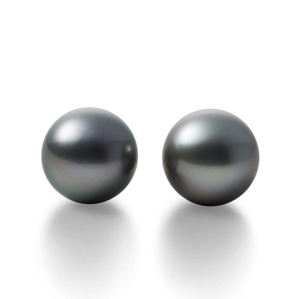 Large Gray Tahitian Cultured Pearl Earrings