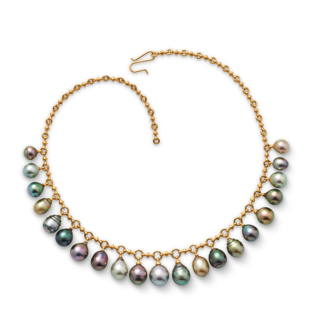 Tahitian and South Sea Pearl Fringe Necklace