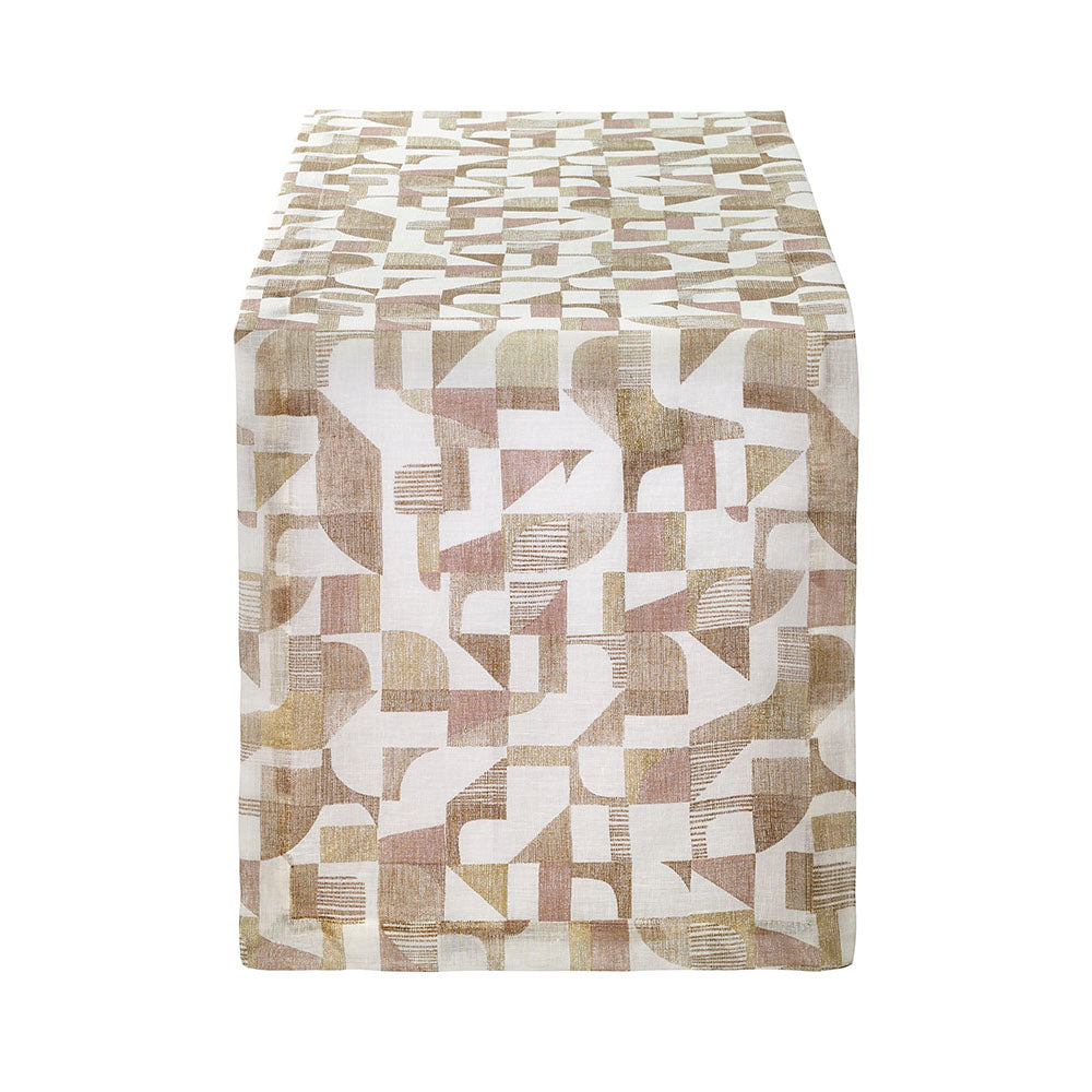 Bodrum Geo Gold Table Runner