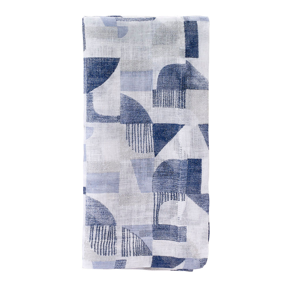 Geo Blue Napkin, Set of 4