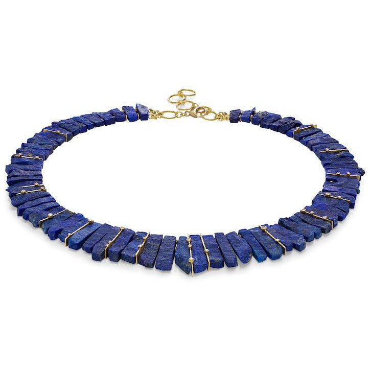 Barbara Heinrich Lapis Gold & Diamond Necklace