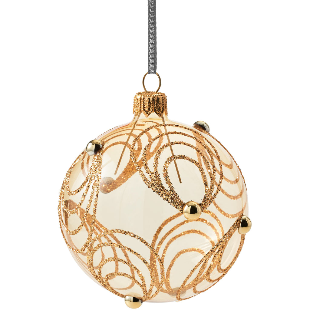 Gold with Circles Ornament