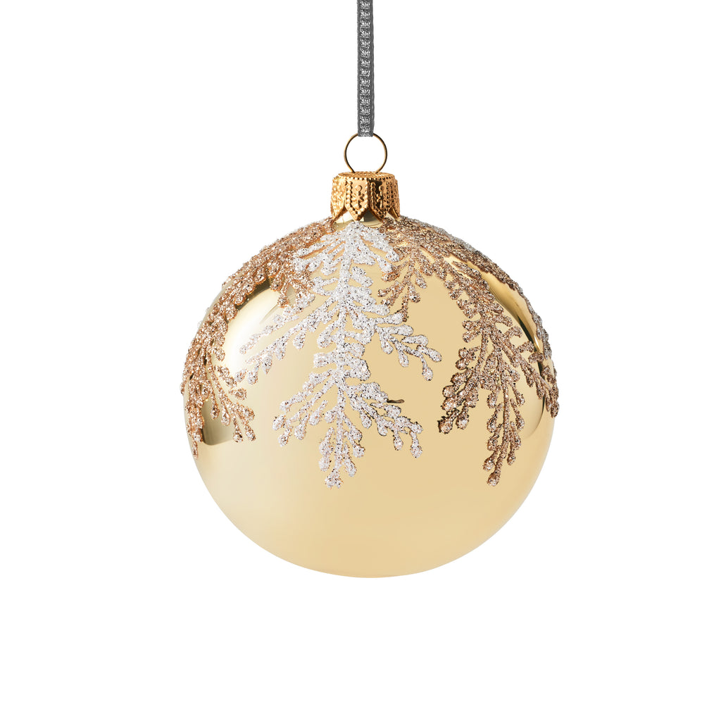 Gold with Branches Bulb Ornament