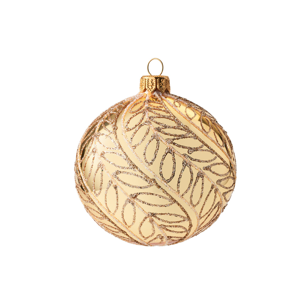 Gold with Leaves Ornament