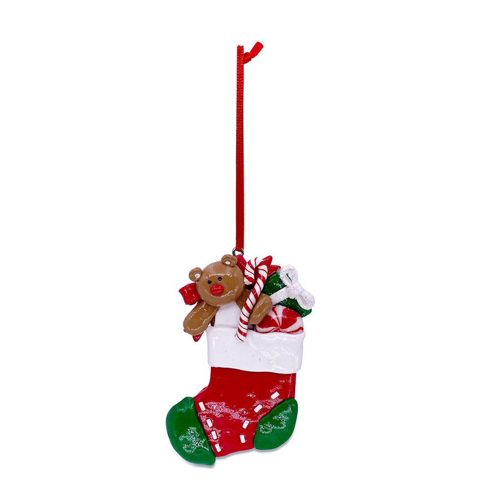 Red Stocking with Toys Ornament