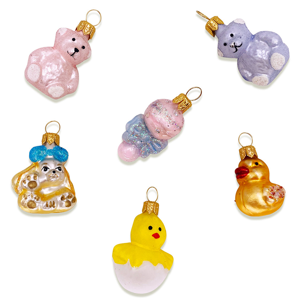 Baby Ornaments, Set of 6