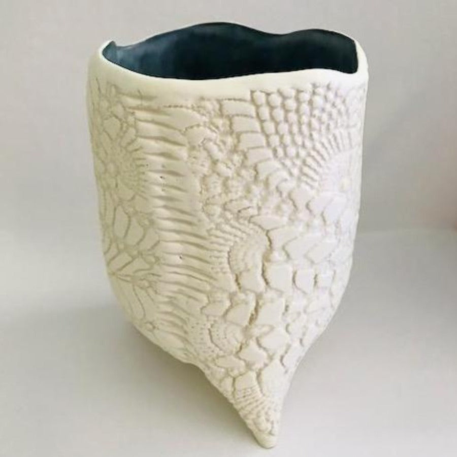 Textured French Country Lace Vessel
