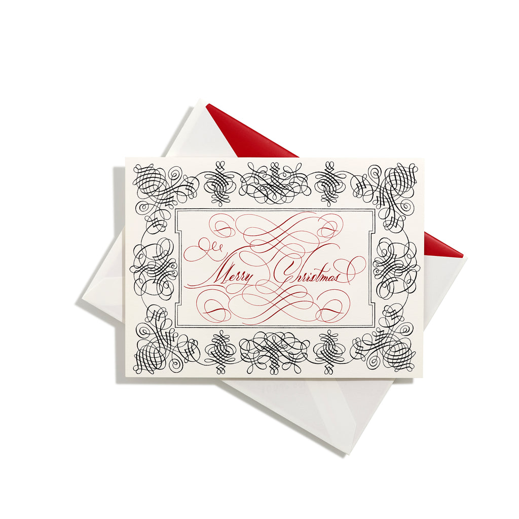 Merry Christmas Note Cards, Set of 8