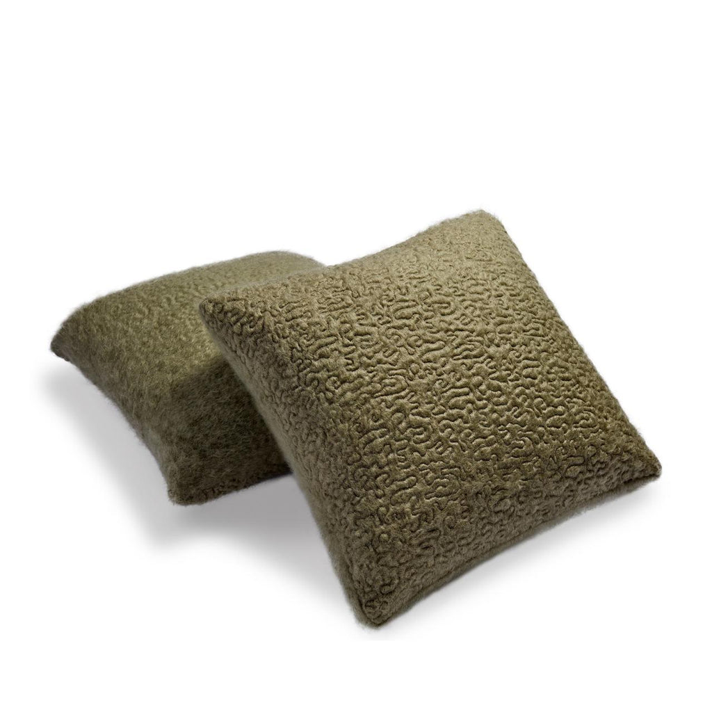 Haas Vermiculation Pillow, Green