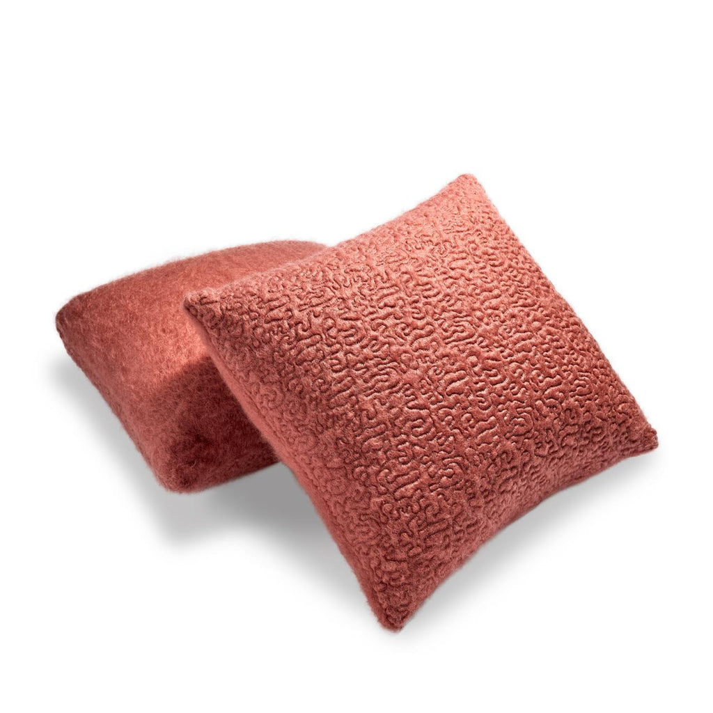 Haas Vermiculation Pillow, Red
