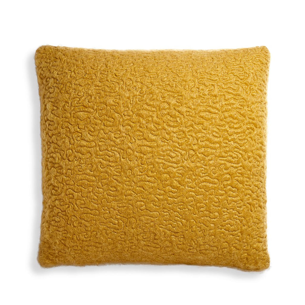 Haas Vermiculation Pillow, Yellow