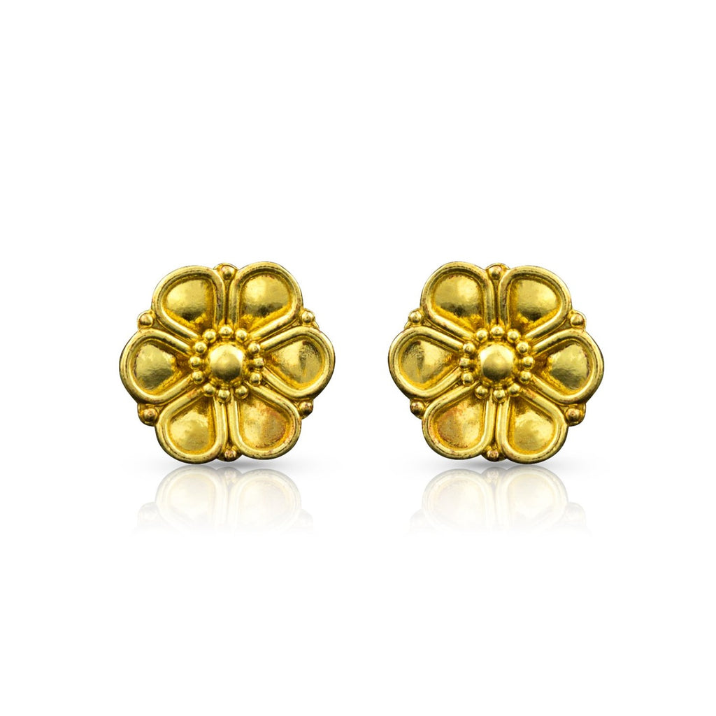 Casual Unique Black and Gold Rosette Wave Stud Earrings