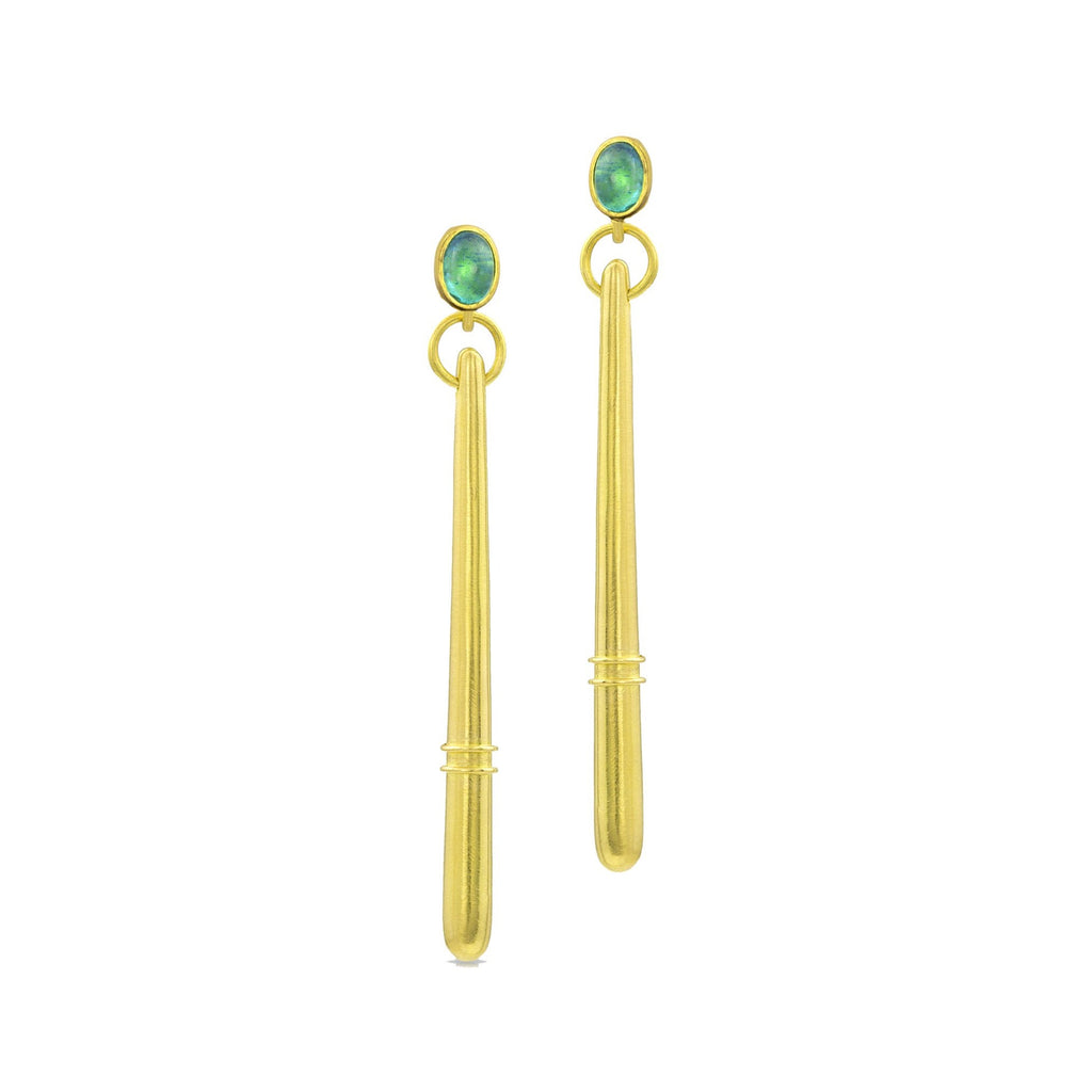 Paraiba Tourmaline Torpedo Drop Earrings