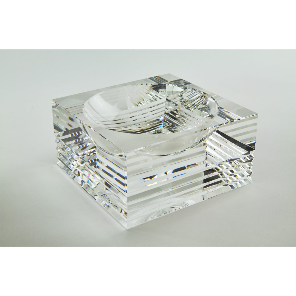 Linear-Cut Crystal Bowl