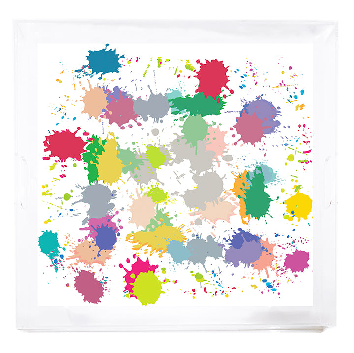 Paint Splotch Square Tray