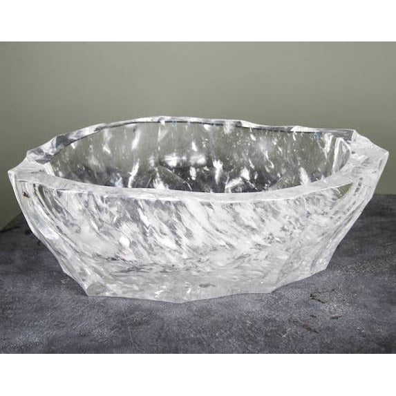 Robert Kuo Ice-Carved Crystal Basin