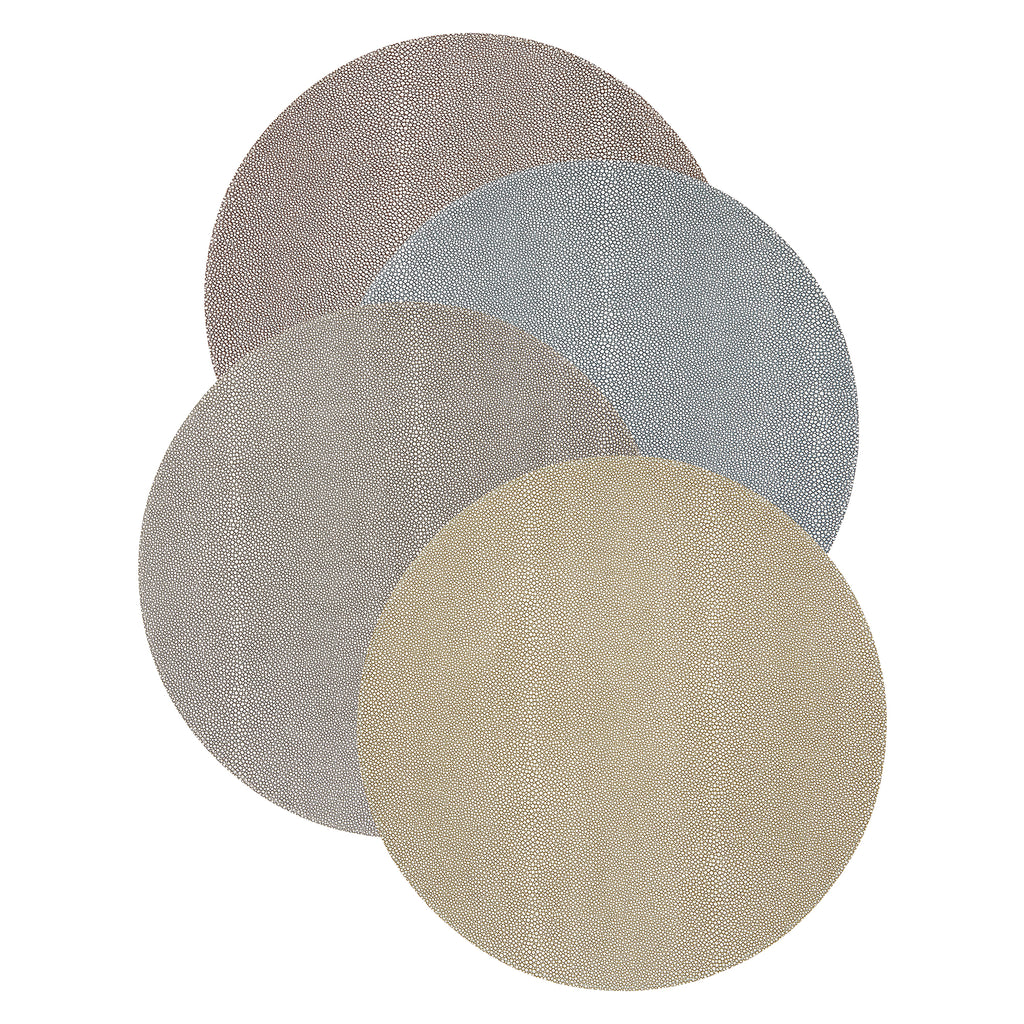 Mode Living Pera Coffee-Khaki Placemats, Set of 4
