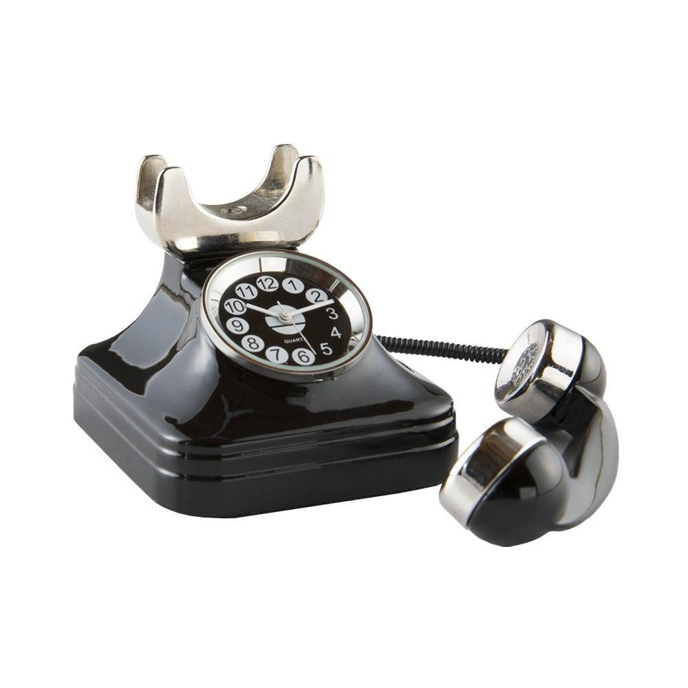 Telephone Clock, Black