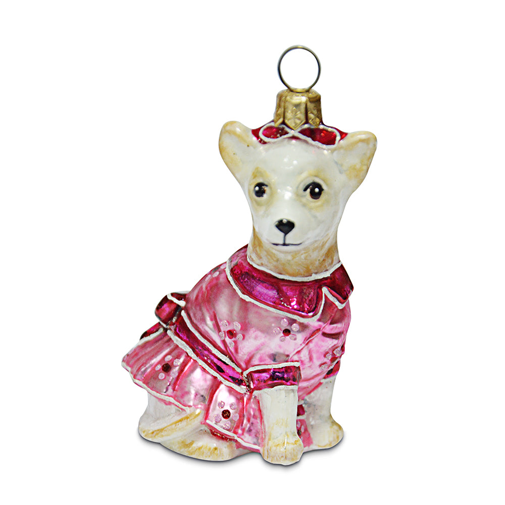 Chihuahua in Dress Ornament