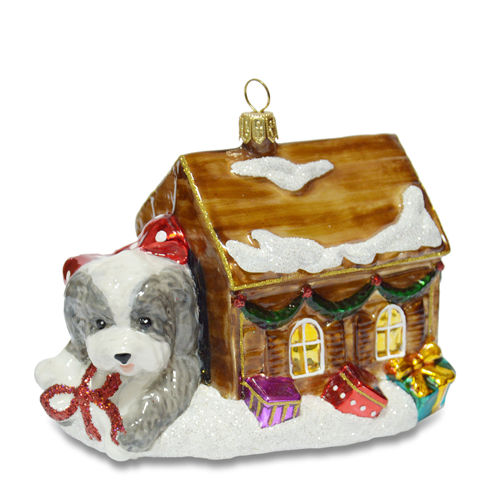 Dog in Kennel Ornament