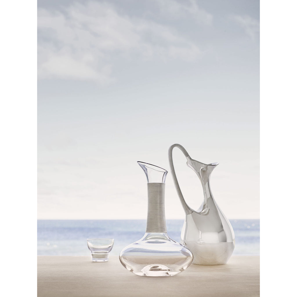 Georg Jensen Koppel Crystal Carafe with Silver