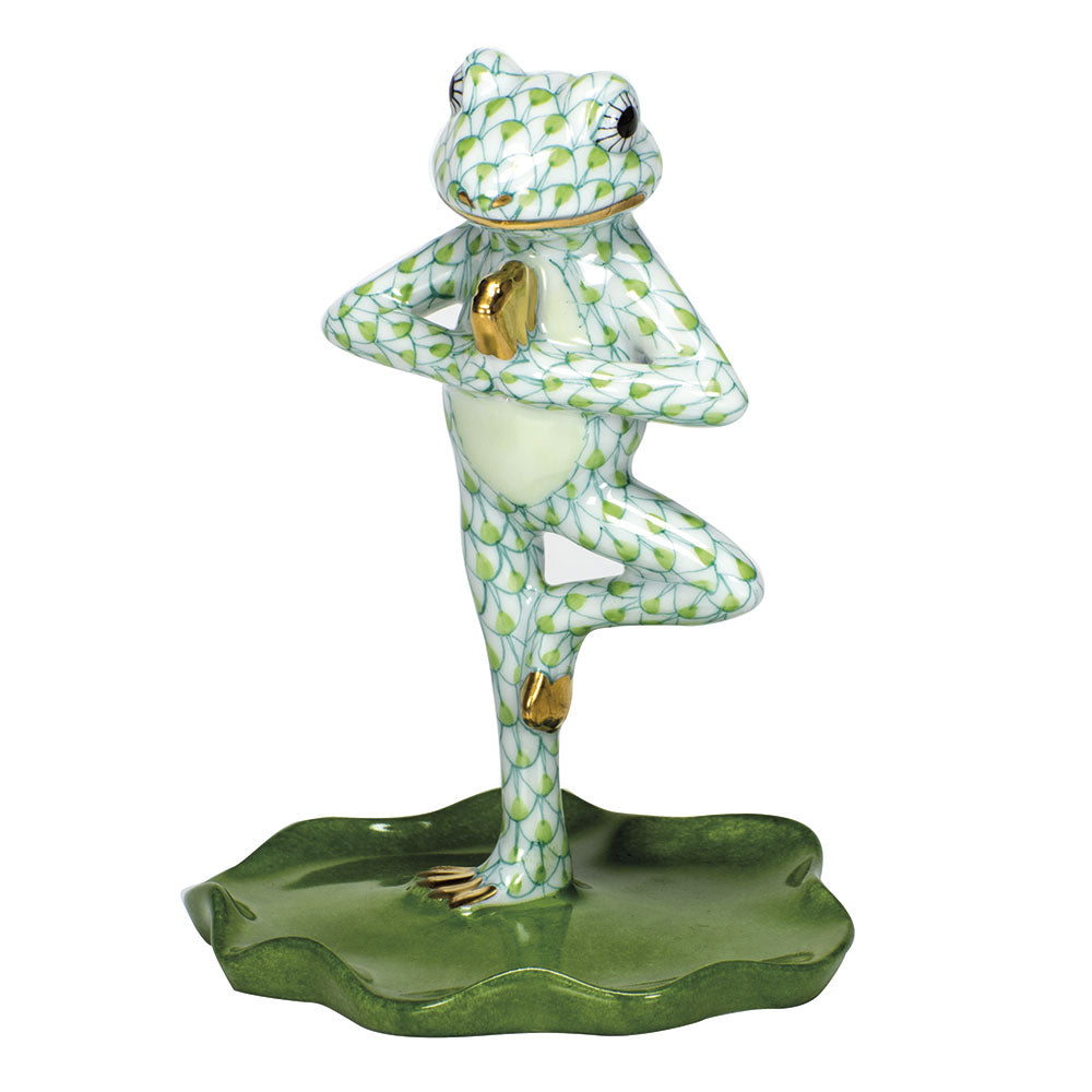 Yoga Frog in Tree Pose, Lime