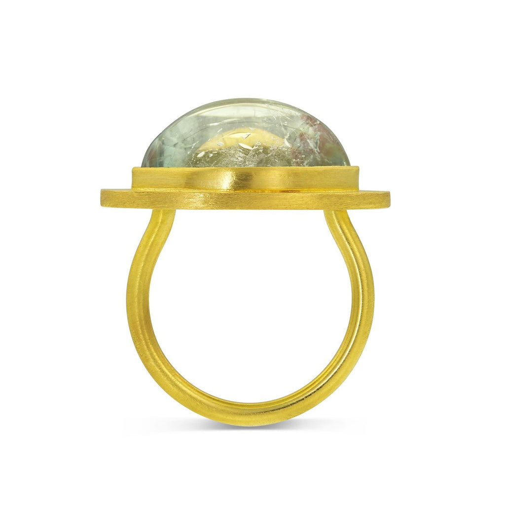 Green Tourmaline Signet Ring