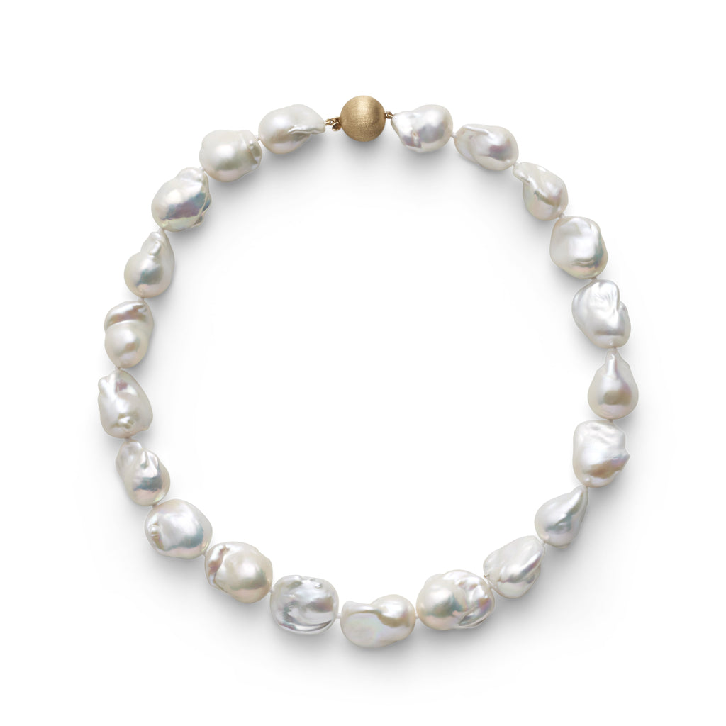 Baroque Pearl & Gold Necklace