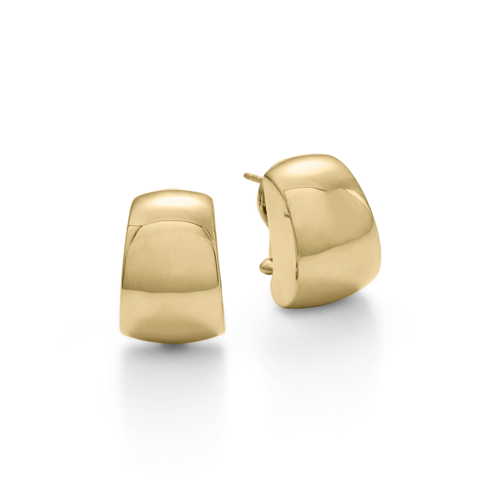 Gold Tapered Cuff Earrings