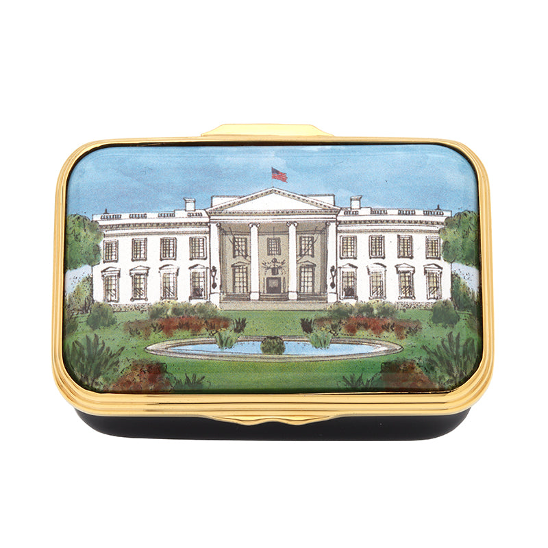 'The White House in Summer' Enamel Box