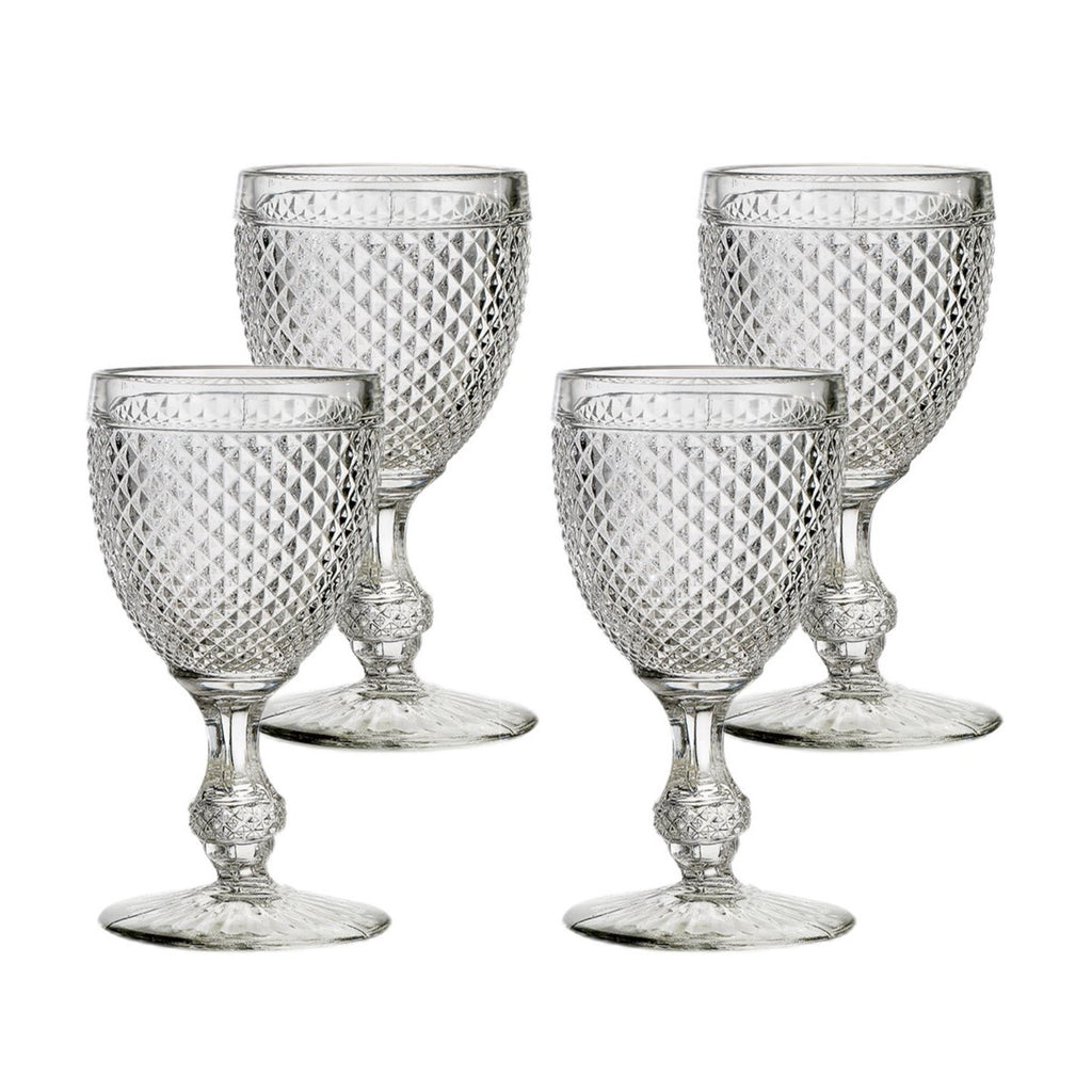 Clear Bicos Water Goblets, Set of 4