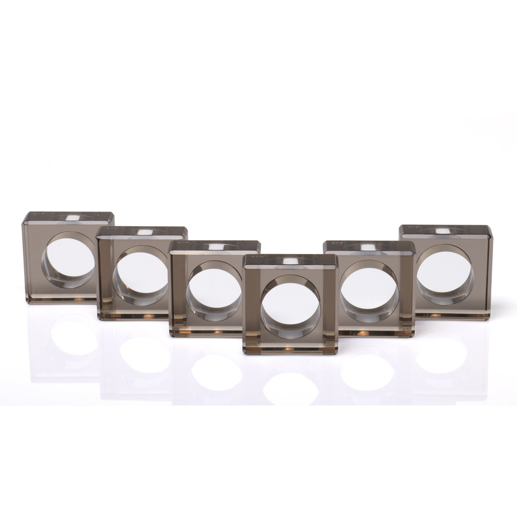 Square Napkin Rings, Set of 6