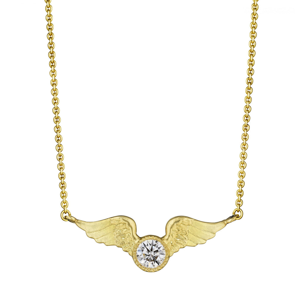 Anthony Lent Small Victory Necklace with Diamond